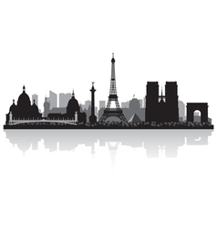 Paris France city skyline silhouette vector image