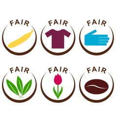 Fair trade products vector