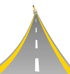 Road with paint brush art vector