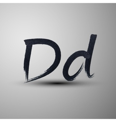 Calligraphic hand-drawn marker or ink letter d vector