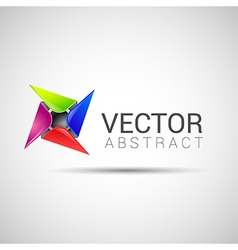 Logo shape set 3d style element design abstract vector