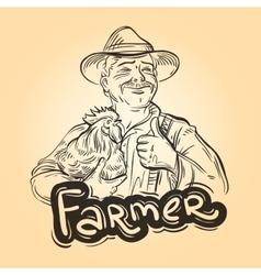 farm farming logo design template farmer vector image