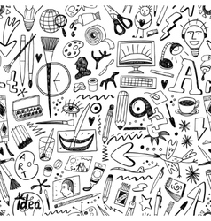 Art tools seamless background vector
