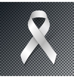 White ribbon alliance for safe motherhood vector