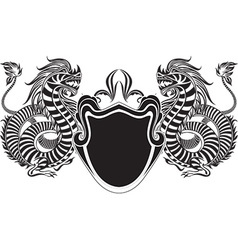 Black heraldry design vector