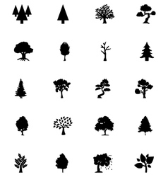 Forest solid icons 5 vector