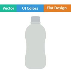 Flat design icon of water bottle vector