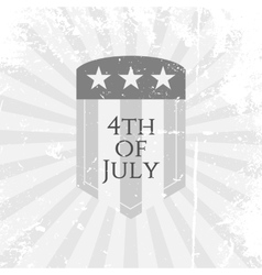 Independence day 4th of july flat symbol vector