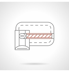 Gate barrier icon flat line icon vector