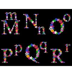 alphabet set 3 vector image vector image