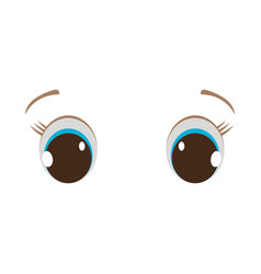 Baby eyes icon vector