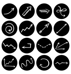 Black and white round pictograms vector