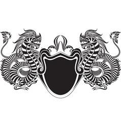 Black heraldry design vector