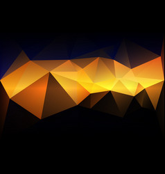 Blue yellow orange black low poly background vector