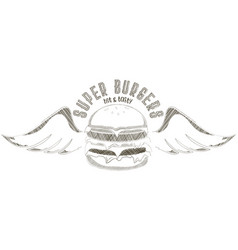 burgers logo vector image