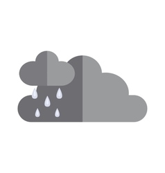 Dark storm clouds before rain dramatic cloudscape vector image