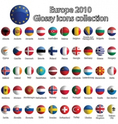 Europe icons vector image vector image