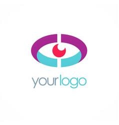eye optic technology logo vector image