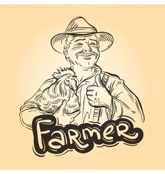Farm farming logo design template farmer vector