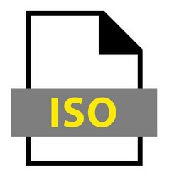 File name extension iso type vector