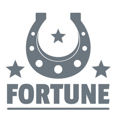 fortune logo vintage style vector image