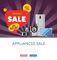 Household appliances discount sale banner vector image