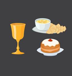 Hummus jewish food pie appetizer mashed chickpeas vector