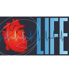 LIFE HART vector image vector image