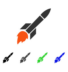 Missile flight flat icon vector