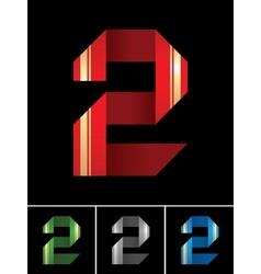 Numeral of paper tape - 2 vector image