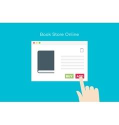 Online book store flat conceptual vector