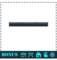 Ruler icon icon flat vector image