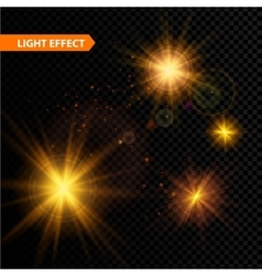 Set of glowing light effect stars bursts with vector image