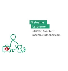 Veterinarian business card vector