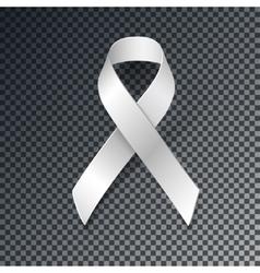 White ribbon alliance for safe motherhood vector