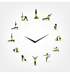 Yoga time watch concept for your design vector image vector image
