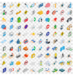 100 help icons set isometric 3d style vector