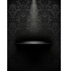 Empty shelf black luxury vector image