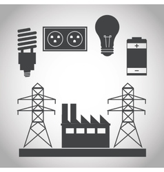 Energy tower and ecology design vector