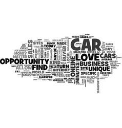 When auto sales sail text word cloud concept vector