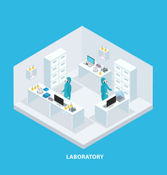 isometric medical research concept vector image