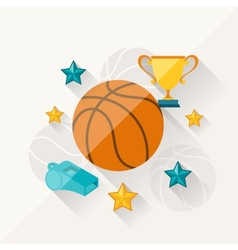 Concept of basketball in flat design style vector