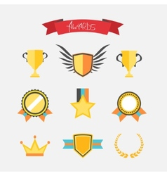 Awards collection vector