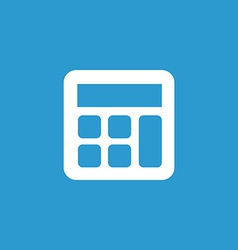 Calculator icon white on the blue background vector