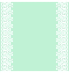 Lace frame on green background vector