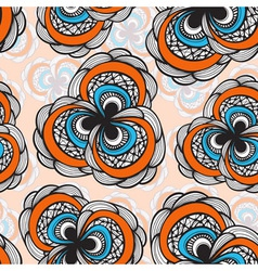 Seamless abstract floral bright pattern 4 clipping vector