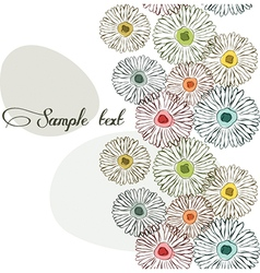 Colorful floral seamless background vector