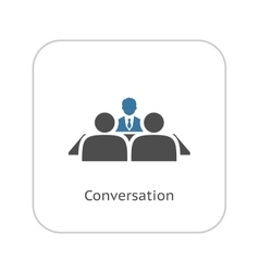 Conversation icon flat design vector