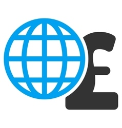 Global pound finances flat icon symbol vector