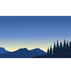 Silhouette of mountain from a far vector image